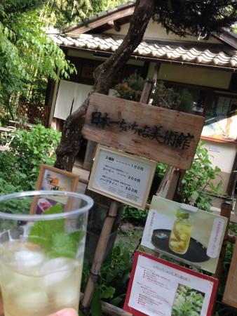 日本で一番小さい美術館・嵯峨野・レモンバームハーブティ