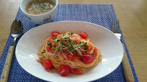 トマトの冷静パスタランチ